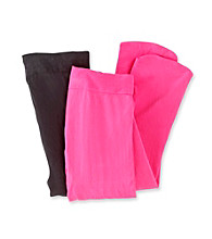 Miss Attitude Girls' Pink/Black 2-pk. Microfiber Tights