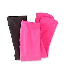 Miss Attitude Girls' Pink/Black 2-pk. Microfiber Tights