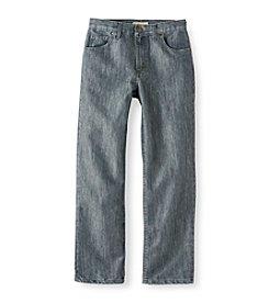 Ruff Hewn Boys' 8-20 Grey 5-Pocket Straight Leg Jeans