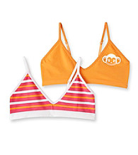 St. Eve® Intimates Girls' Pink/Orange 2-pk. Striped Crop Tops