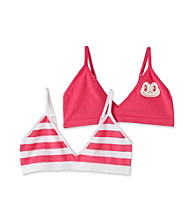St. Eve® Intimates Girls' Pink/White 2-pk. Frog Crop Tops