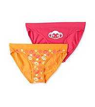St. Eve® Intimates Girls' 6-12 Pink/Orange 2-pk. Seamless Bikini Panties