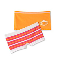 St. Eve® Intimates Girls' 6-12 Pink/Orange 2-pk. Striped Boyshorts