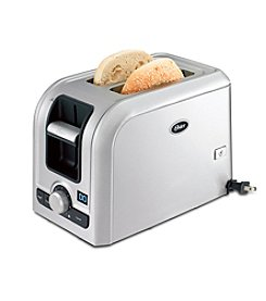 Oster® Brushed Stainless Steel 2-Slice Toaster with Digital Countdown