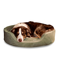 PAW™ Cuddle Round Suede Terry Pet Bed