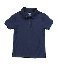 French Toast® Girls' 2T-20 Short Sleeve Feminine Fit Polo with Picot Collar