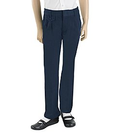 French Toast® Girls' 4-20 Adjustable Waist Hem Pleated Pants
