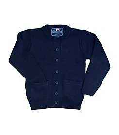 French Toast ® Girls' 2T-20 Anti-Pill Crew Neck Cardigan