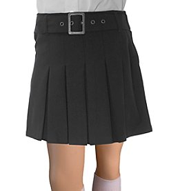 French Toast ® Girls' 4-20 Pleated Scooter With Square Buckle Belt