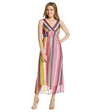 Chaudry® Multi Striped Maxi Dress