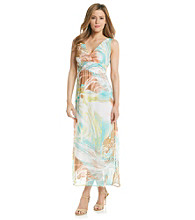 Chaudry® Abstract Print Maxi Dress