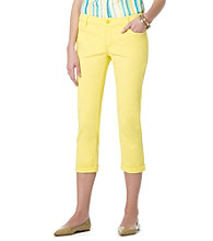 Jones New York Signature® Colored Chelsea Cuffed Capri Jeans