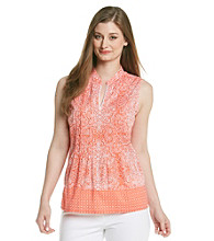 Jones New York Sport® Printed Split Neck Tunic