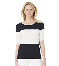 Jones New York Sport® Colorblocked Knit Top