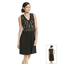 Adrianna Papell® Short Sleeveless Lace Cocktail Dress