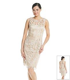 Adrianna Papell® Sleeveless Illusion Lace Dress