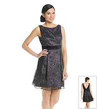 Adrianna Papell® Sleeveless Lace Dress With Bow