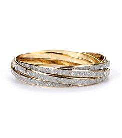 Steve Madden Silvertone and Goldtone Bangle Bracelets
