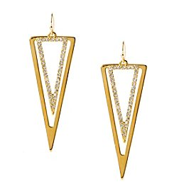 Steve Madden Double Triangle Drop Earrings