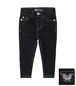 Levi's® Girls' 2T-6X Sabrina Butterfly Denim Leggings - Midnight
