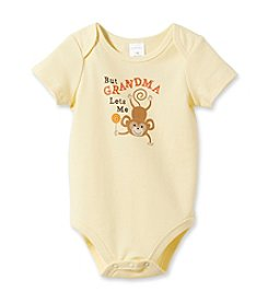 Cuddle Bear® Baby Yellow Silk But Grandma Lets Me Attitudes Bodysuit