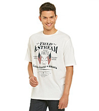 Field & Stream® Men's White Short Sleeve Crossed Flags Graphic Tee