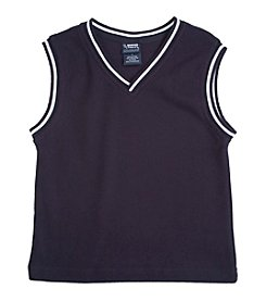 French Toast® Boys' 4-20 Navy Sweater Vest With White Stripe