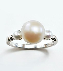Sterling Silver, Freshwater Pearl Ring