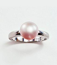 Sterling Silver,Pink Freshwater Pearl Ring