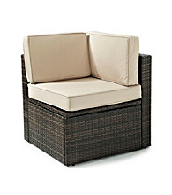 Crosley Furniture Palm Harbor Brown Outdoor Wicker Corner Chair