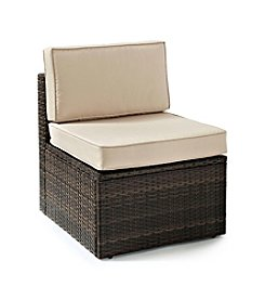 Crosley Furniture Palm Harbor Brown Outdoor Wicker Center Chair