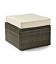Crosley Furniture Palm Harbor Brown Outdoor Wicker Ottoman