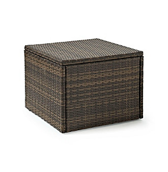Crosley Furniture Palm Harbor Brown Outdoor Wicker Coffee Se