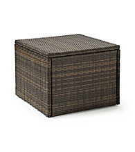 Crosley Furniture Palm Harbor Brown Outdoor Wicker Coffee Sectional Table