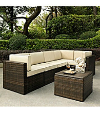 Crosley Furniture Palm Harbor 6-pc. Brown Outdoor Wicker Seating Set
