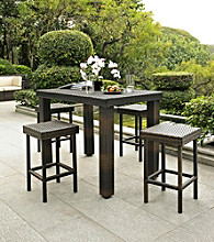 Crosley Furniture Brown Palm Harbor 5-pc. Outdoor Wicker High Dining Set