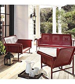 Crosley Furniture Coral Red Veranda Glider