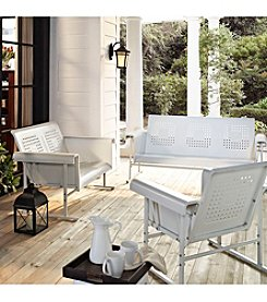 Crosley Furniture Alabaster White Veranda Glider Furniture