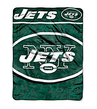 New York Jets Micro Raschel Living Large Throw