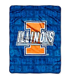 University of Illinois Micro Raschel Living Large Throw