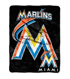 MLB® Miami Marlins Micro Raschel Living Large Throw