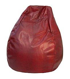 Gold Medal Large Tear Drop Snakeskin Vinyl Bean Bag