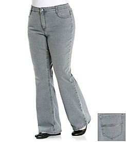 Laura Ashley® Plus Size Grey Wash Bootcut Denim