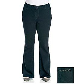 Laura Ashley® Plus Size Black Rinse Bootcut Denim