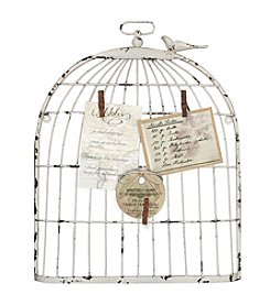 Sheffield Home® Ivory Birdcage Clothspin Photo Display
