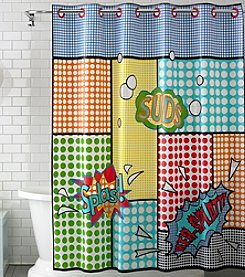 Hookless® Splash PEVA Shower Curtain