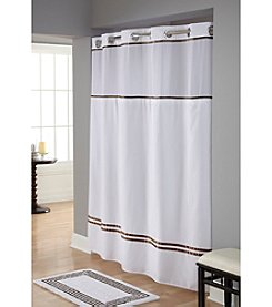 Hookless® Escape Shower Curtain and PEVA Liner