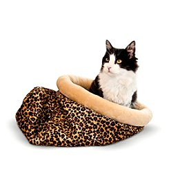 K&H Pet Products Self-Warming Leopard Kitty Sack