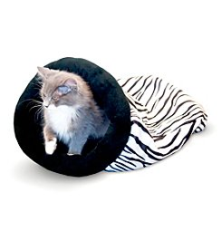 K&H Pet Products Self-Warming Zebra Kitty Sack