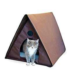 K&H Pet Products Outdoor Chocolate Kitty A-Frame